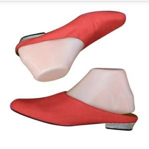 Vintage - 70's J Renee Collection Red & Gold Mule